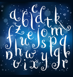 fairytale hand drawn alphabet on light background vector image vector image