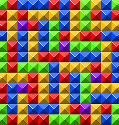 Pyramid tiles pattern vector image