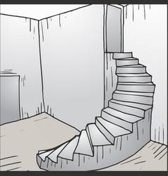 Stair cartoon vector