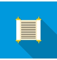Torah scroll icon flat style vector image