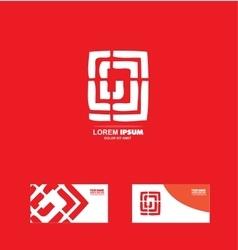 Abstract labirinth logo design vector image vector image