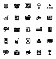 Data and information icons on white background vector image vector image