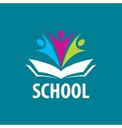 Open book logo vector image vector image