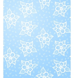 Seamless Floral Blue Background vector image