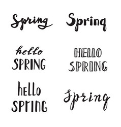 spring calligraphy lettering spring quotes vector image vector image