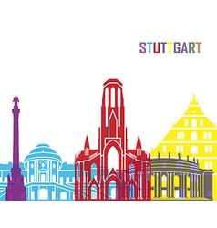 Stuttgart skyline pop vector image vector image