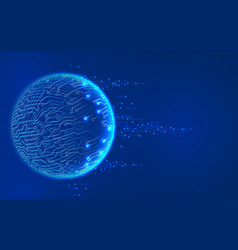 Abstract glowing sphere with contacts vector