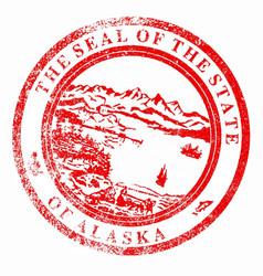 Alaska seal stamp vector