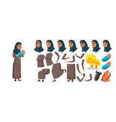 Arab muslim teen girl animation creation vector