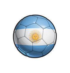Argentinian flag football - soccer ball vector