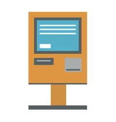 atm payment terminal vector image
