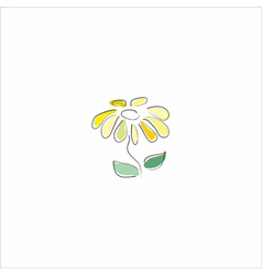 Beautiful flower on white vector