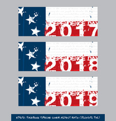 betsy ross flag independence day timeline cover - vector image