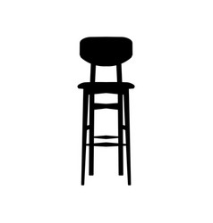 Black bar stool bar chair vector