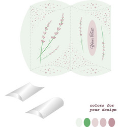 bonbonniere envelope for gift gift wrapping vector image