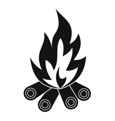 Bonfire icon simple style vector