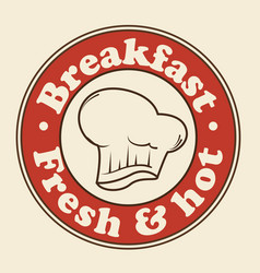 Breakfast sign icon vector