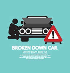Broken Down Car Symbol vector