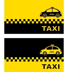 business card with retro taxi car vector image