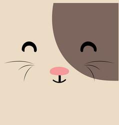 Cartoon cat background vector
