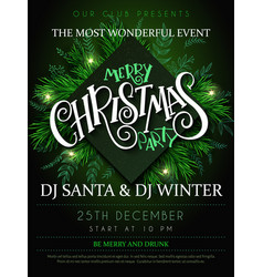 Christmas party poster with vector