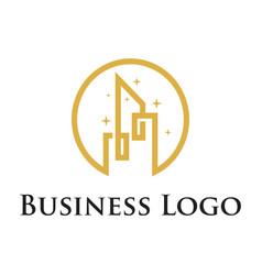 City house building real estate logo template vector