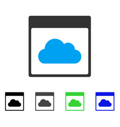 Cloud calendar page flat icon vector