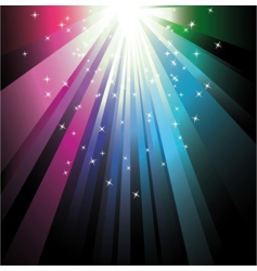 colorful ray lights vector image