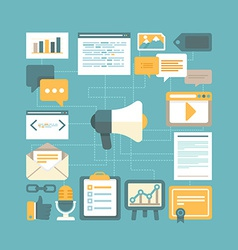 Content marketing concept vector