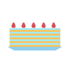 cute sweet cake color icon vector image