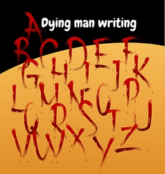 dead man writing vector image