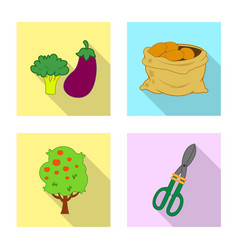 Design of farm and agriculture logo set of vector
