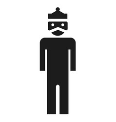 Dictator man icon simple style vector