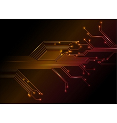 electronic circuit abstract background vector image