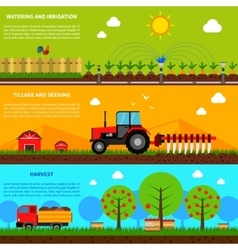 Farming Banner Set vector image