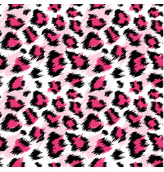Fashionable pink leopard seamless pattern vector