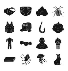 fishing education medicine and other web icon in vector image