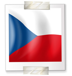 flag of chile on paper vector image