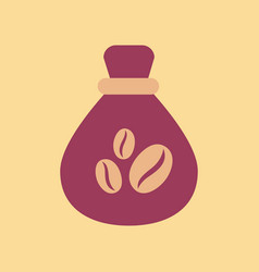 flat icon on background bag roasted coffee vector image