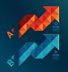 Geometric arrows red and blue colour vector