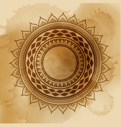 geometric mandala element made in vintage vector image