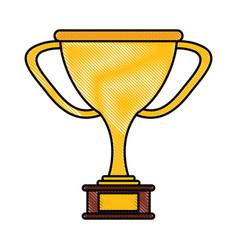 Golden trophy design vector