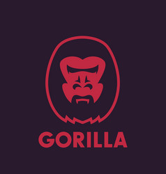 Gorilla head logo element vector