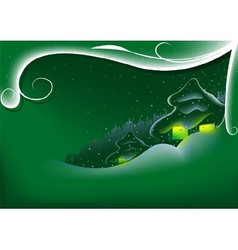 Green Abstract Xmas vector image