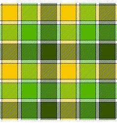 Green yellow check plaid seamless pattern vector