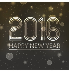 happy new year 2016 on dark shiny stars background vector image