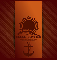 Hello summer logo vector
