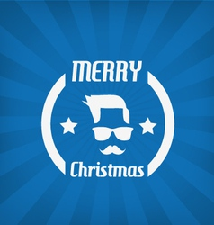 Hipster face christmas icon vector