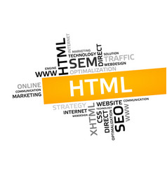 Html word cloud tag cloud graphic vector