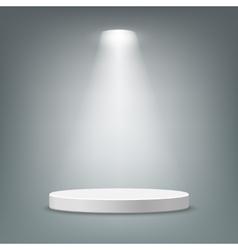 Illuminated round pedestal vector image